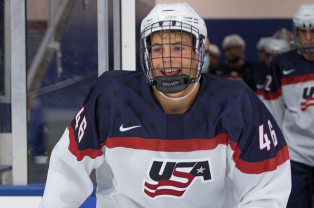 Adam Samuelsson (credit Rena Laverty, USA Hockey NTDP)