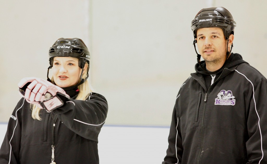 """Holly is one of the most passionate coaches I've seen. She has a great way of teaching very difficult skating techniques to kids. Having her at my practices and watching her coaching style has definitely made me a better coach."" – AHU Mite Silver head coach Mike Russo"